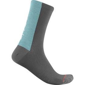 Castelli Bandito Wool 18 Sokken, dark grey/celeste